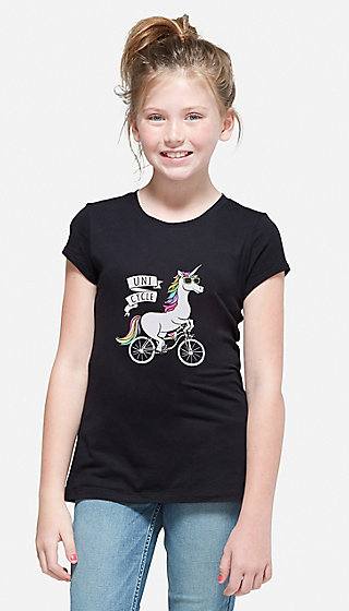 Unicorn Unicycle Graphic Tee