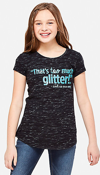 Too Much Glitter Graphic Tee
