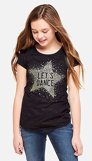 Let's Dance Glitter Graphic Tee