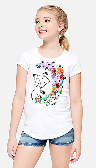 Be Unique Fox Graphic Tee