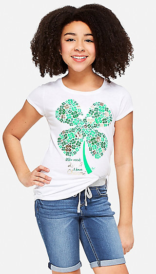 Lucky Clover Graphic Tee