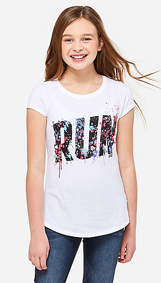 Run Splatter Graphic Tee