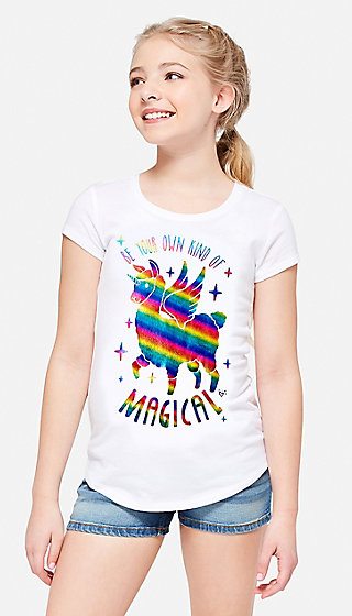 Rainbow Llamacorn Graphic Tee