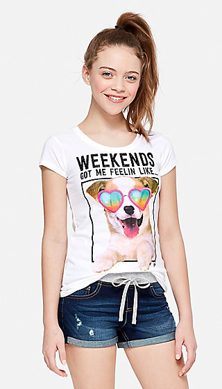 Weekend Puppy Graphic Tee