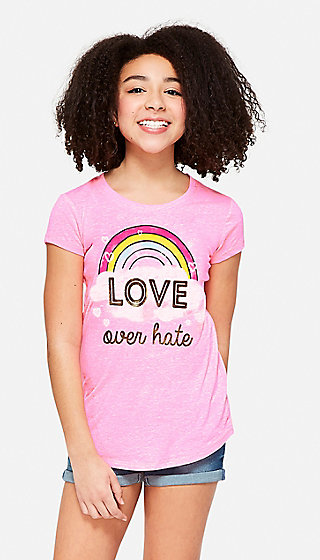 Love Over Hate Graphic Tee