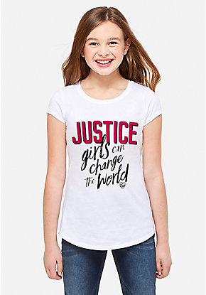 Girls Can Change the World Logo Graphic Tee