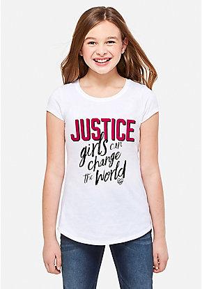 Trendy & Cute Graphic Tees for Tween Girls | Justice