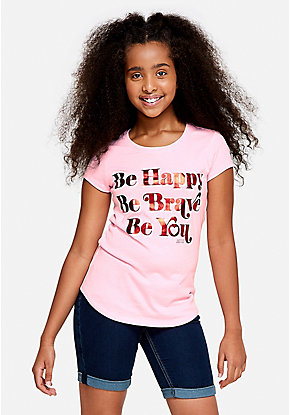Be Happy Be Brave Be You Graphic Tee