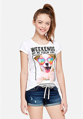 Trendy Cute Graphic Tees For Tween Girls Justice
