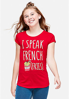 I Speak French Fries Graphic Tee