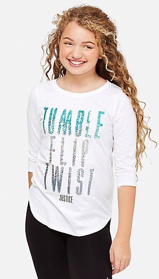 Tumble Flip Twist Sequin Tunic