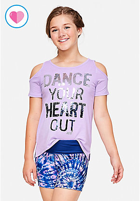 Dance Cold Shoulder Top