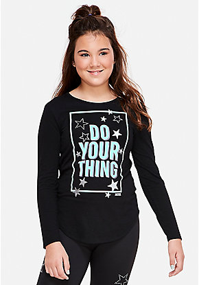 Positive Message Long Sleeve Tee