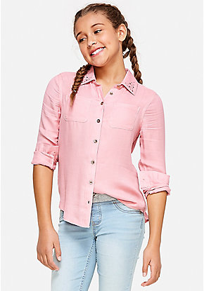 Stud Button Up Shirt