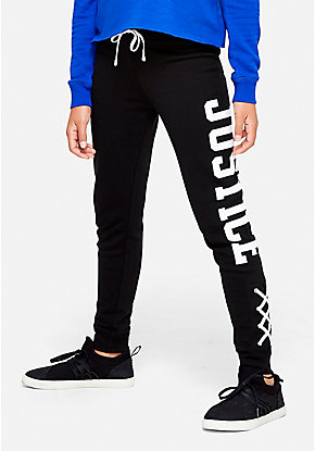 Logo Lace Up Hem Joggers