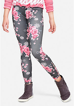 Floral Lattice Leggings
