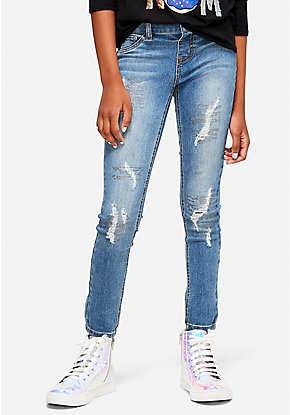 Shimmer Destructed Jeggings