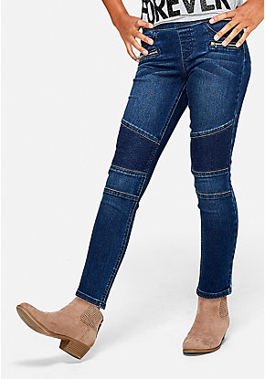 Moto Pull On Jean Leggings