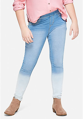 Ombre Pull On Jean Legging