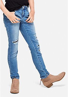 Destructed Super Skinny Jeans