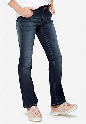 Woven Bootcut Jeans