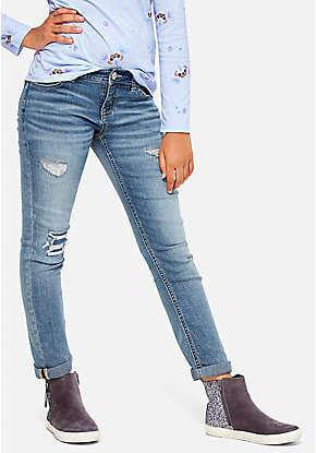 Destructed Relaxed Fit Skinny Jean