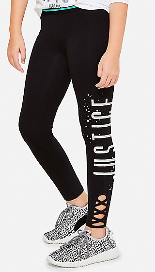 Criss Cross Logo Leggings