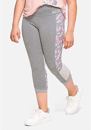 Mesh Knee Crop Leggings