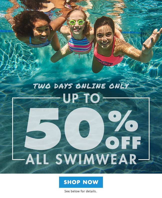 50% off all swimwear!