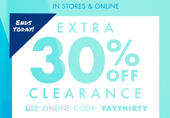 30%off Clearance!