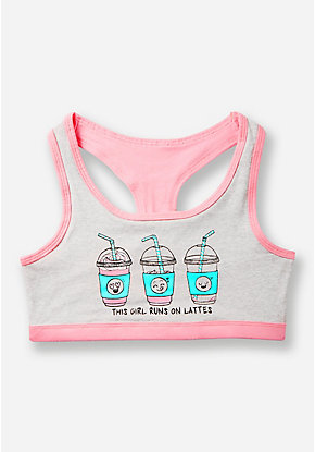 Latte Racerback Sports Bra