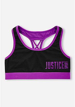 Logo Braided Back Sports Bra