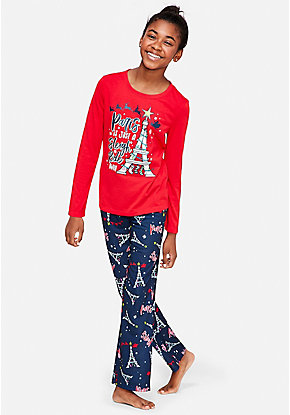 Paris is Just a Sleigh Ride Away Pajama Set