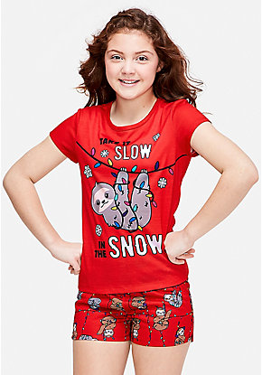 Take it Slow in the Snow Short Pajama Gift Set