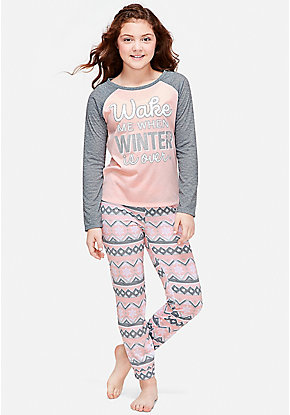 Wake Me When Winter is Over Pajama Gift Set