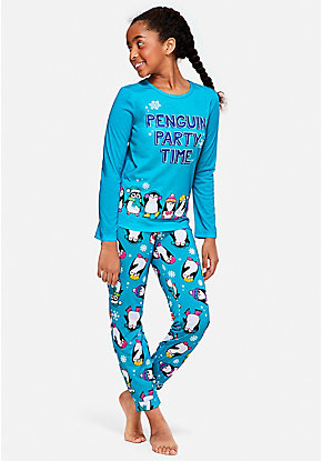 Penguin Party Time Pajama Gift Set