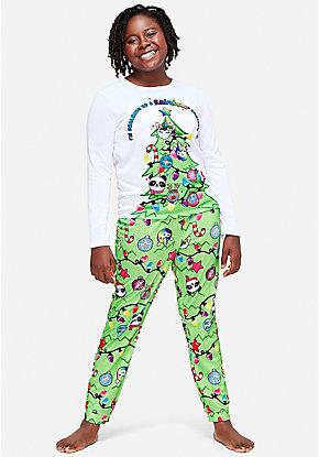 rainbow christmas pajama gift set