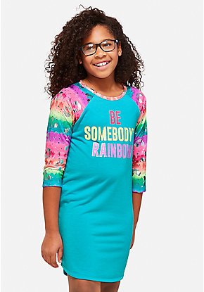 Be Somebody's Rainbow Nightgown