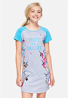 Party Like a Unicorn Nightgown