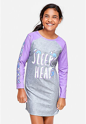 Sleepy Head Sloth Nightgown