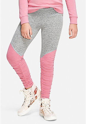 Ruched Knit Leggings
