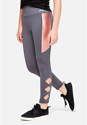 Foil Cutout Leggings