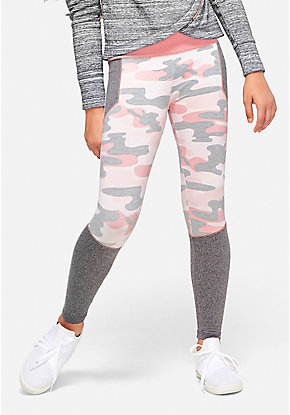 Print Color Block Leggings