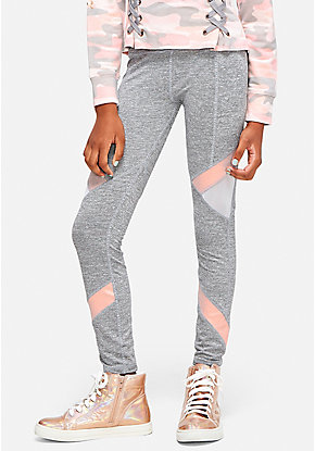 Mesh & Shine Geometric Leggings
