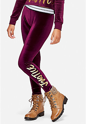 Velour Logo Leggings