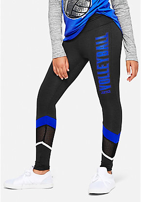 Volleyball Mesh Stripe Leggings