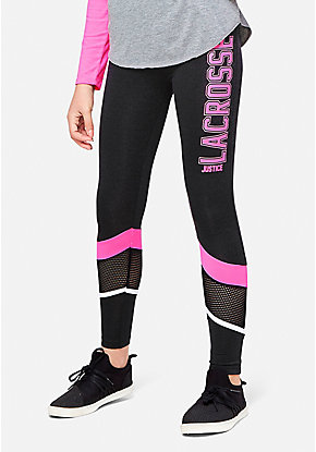 Lacrosse Mesh Stripe Leggings