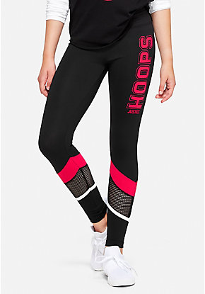Basketball Mesh Stripe Leggings