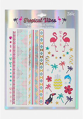 Tropical Vibes Temporary Tattoos