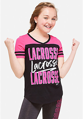 Lacrosse Sequin Football Tee